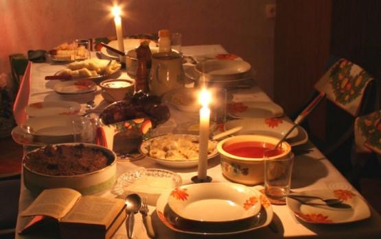 Wigilia stół
